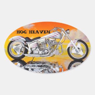 HOG HEAVEN HELMET STICKERS PKG OF 4