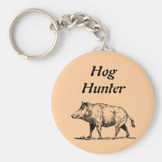 Hog  Hunter Key Ring