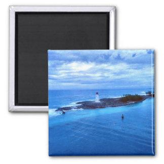 Hog Island Light Square Magnet