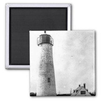 Hog Island Lighthouse Square Magnet