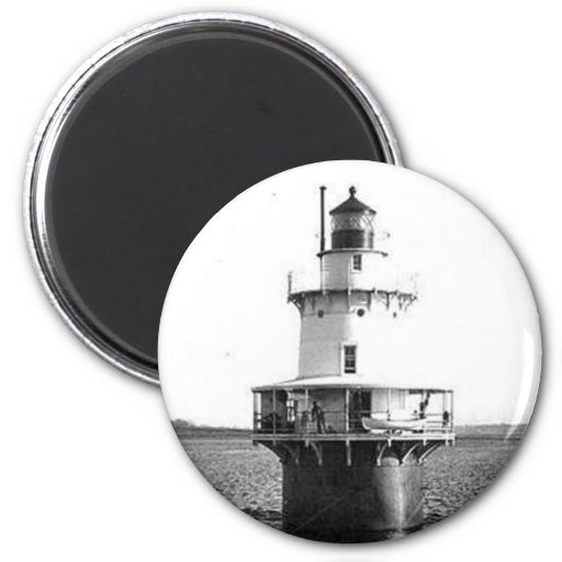 Hog Island Shoal Lighthouse Refrigerator Magnet