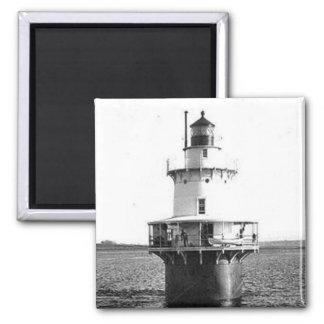 Hog Island Shoal Lighthouse Square Magnet