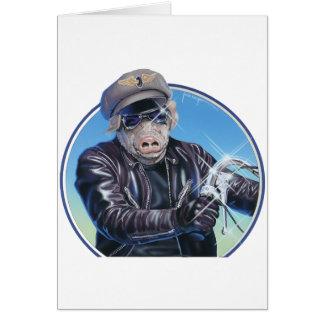 Hog Rider Greeting Card