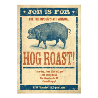 Hog Roast Invitations