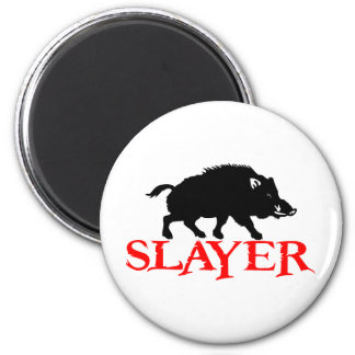 HOG SLAYER 6 CM ROUND MAGNET