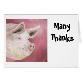 Hog Thank You Notecards Card