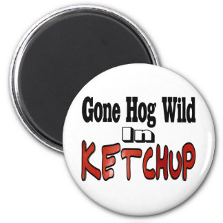 Hog Wild Ketchup Magnets