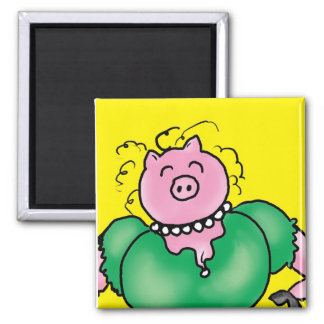 hog wild square magnet