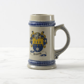 Hogarth Coat of Arms Stein - Family Crest Beer Steins