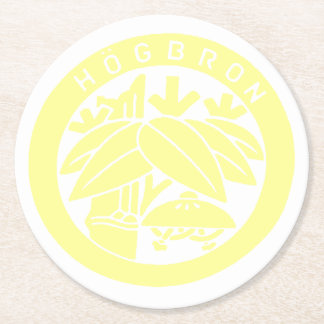 HÖGBRON_COASTER (YELLOW) ROUND PAPER COASTER