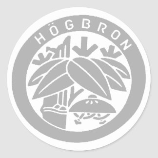 HÖGBRON_STICKER CLASSIC ROUND STICKER