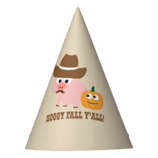 Hoggy Fall Y'all Party Hat
