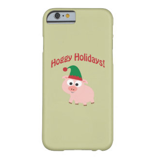 Hoggy Holidays! Elf Pig Barely There iPhone 6 Case