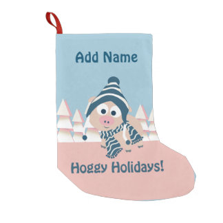Hoggy Holidays! Winter Pig Small Christmas Stocking