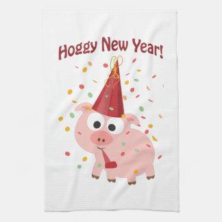 Hoggy New year! Towel