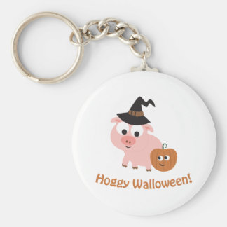 Hoggy Walloween! Basic Round Button Key Ring