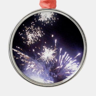 Hogmanay Fireworks Silver-Colored Round Decoration