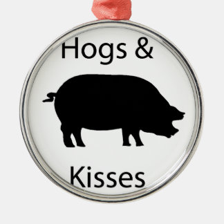 hogs and kisses christmas ornament