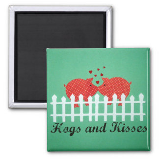 Hogs and Kisses Magnets