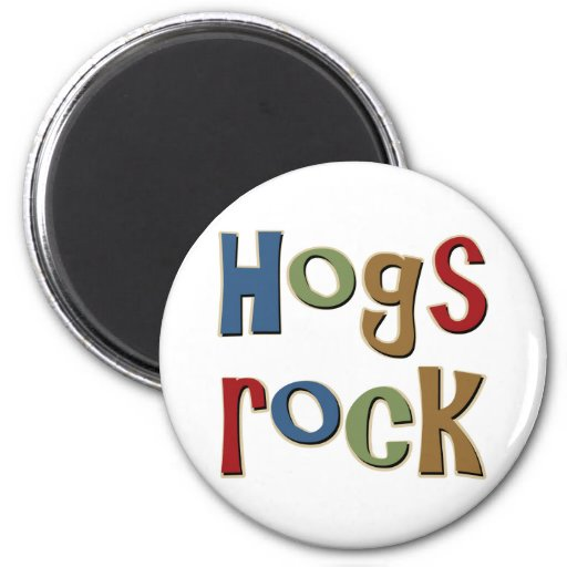 Hogs Rock Refrigerator Magnets
