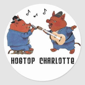 Hogtop Charlotte Classic Round Sticker