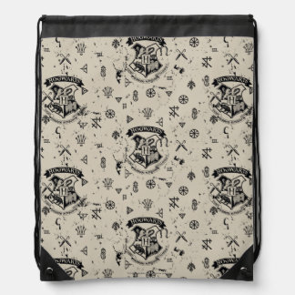 HOGWARTS™ Beige Pattern Drawstring Bag