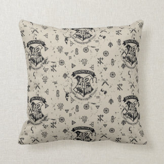 HOGWARTS™ Beige Pattern Throw Pillow