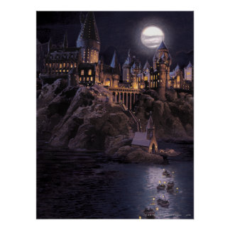 Hogwarts Boats To Castle Poster