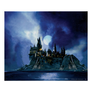 Hogwarts By Moonlight Poster