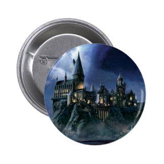 Hogwarts Castle At Night 6 Cm Round Badge