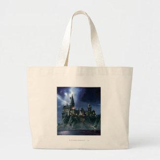 Hogwarts Castle At Night Jumbo Tote Bag