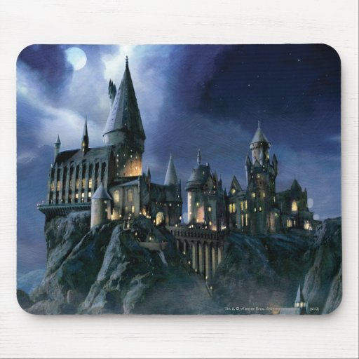 Hogwarts Castle At Night Mousepads