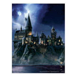Hogwarts Castle At Night Postcard