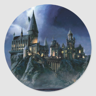 Hogwarts Castle At Night Round Sticker