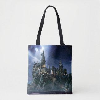 Hogwarts Castle At Night Tote Bag
