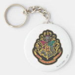 Hogwarts Crest Basic Round Button Key Ring