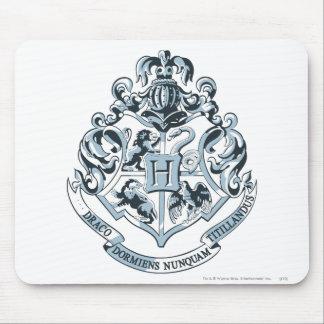 Hogwarts Crest Blue Mouse Pad