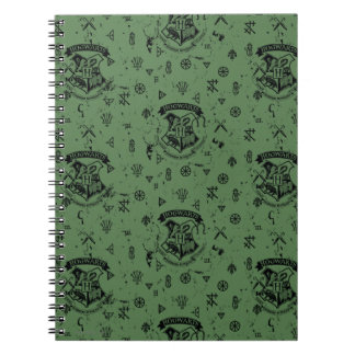 HOGWARTS™ Green Pattern Spiral Notebook