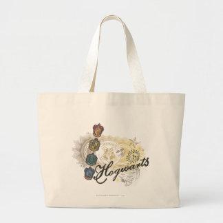 Hogwarts Logo and Professors 2 Jumbo Tote Bag