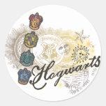 Hogwarts Logo and Professors 2 Round Sticker