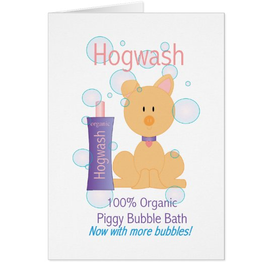 Hogwash Card