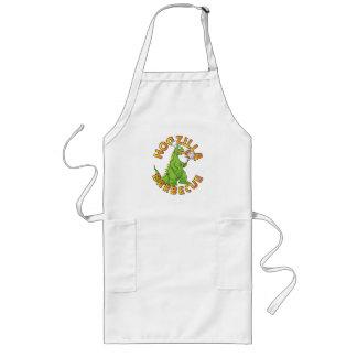 Hogzilla Monster Chef Cartoon Long Apron