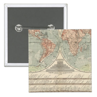 Hohen und Tiefen - Highs and Lows Atlas Map 15 Cm Square Badge