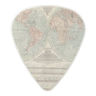 Hohen und Tiefen - Highs and Lows Atlas Map Acetal Guitar Pick