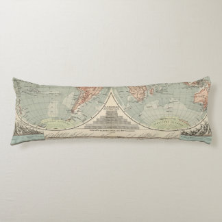 Hohen und Tiefen - Highs and Lows Atlas Map Body Cushion