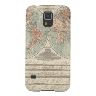 Hohen und Tiefen - Highs and Lows Atlas Map Galaxy S5 Cases