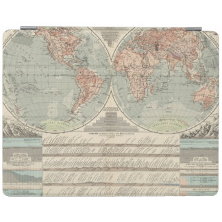 Hohen und Tiefen - Highs and Lows Atlas Map iPad Cover
