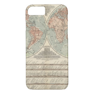 Hohen und Tiefen - Highs and Lows Atlas Map iPhone 8/7 Case