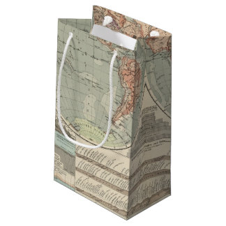 Hohen und Tiefen - Highs and Lows Atlas Map Small Gift Bag