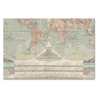 Hohen und Tiefen - Highs and Lows Atlas Map Tissue Paper